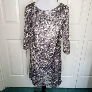 MNG Abstract Pattern Dress Size 2